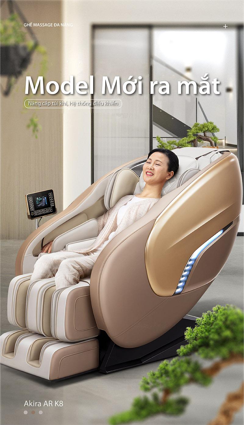 Ghế massage toàn thân cao cấp Akira AR-K8 công nghệ Nhật Bản