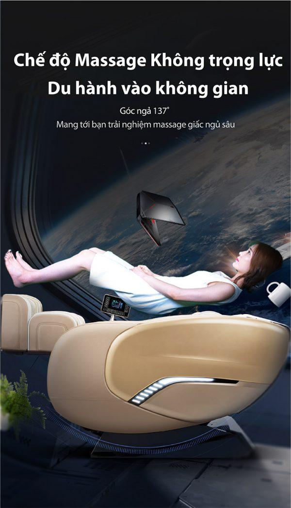 Chế độ massage không trọng lực của ghế akira k8 cao cấp