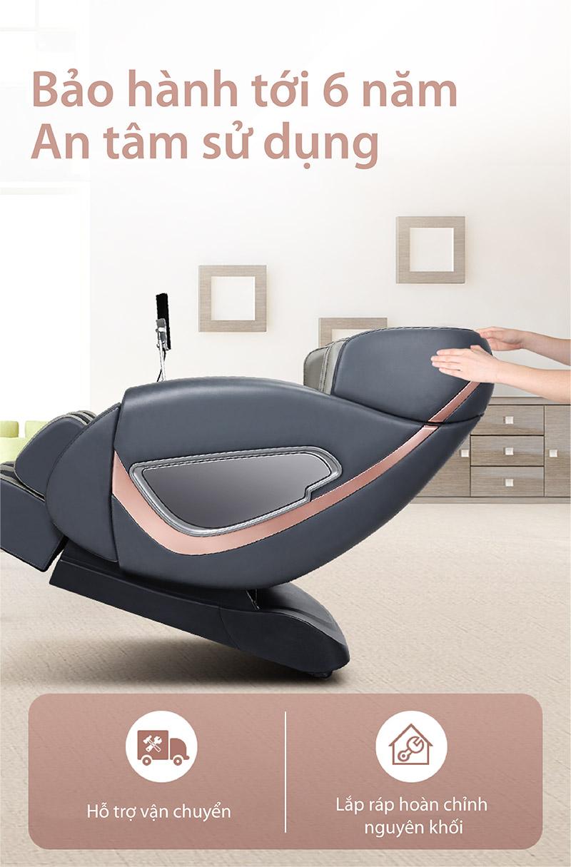 Ghế massage tốt với chính sách bảo hành dài hạn chu đáo