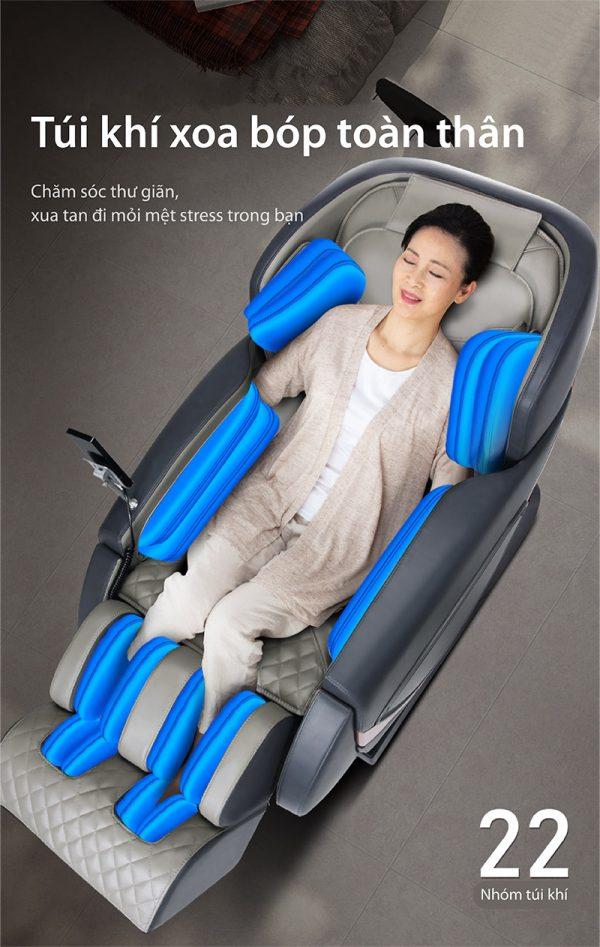 Akira Z8 trang bị 22 túi khí massage toàn cơ thể
