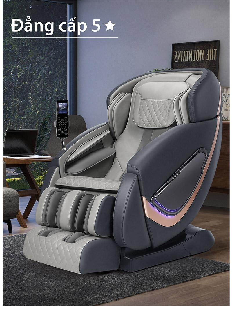 Ghế massage đẳng cấp 5 sao sang trọng tiện nghi