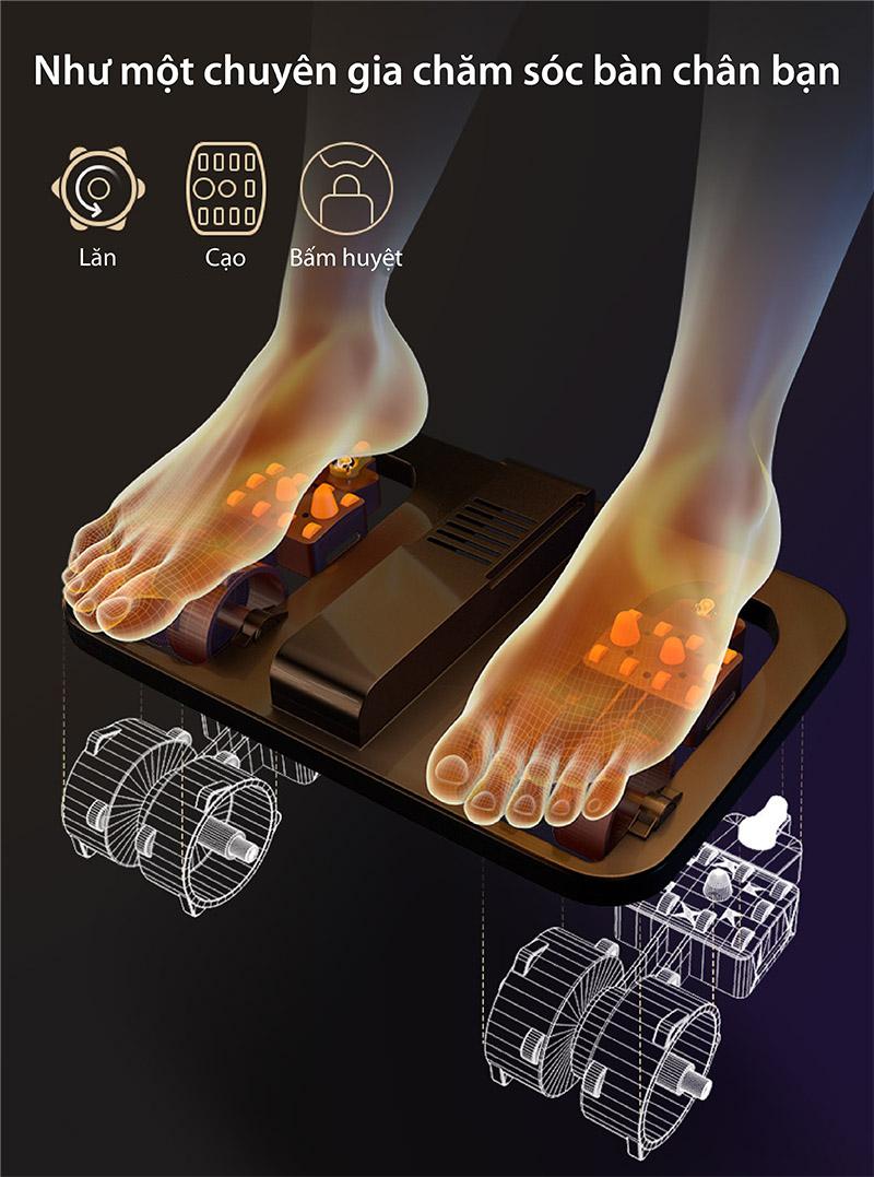 chức năng massage chân của ghế akira z6