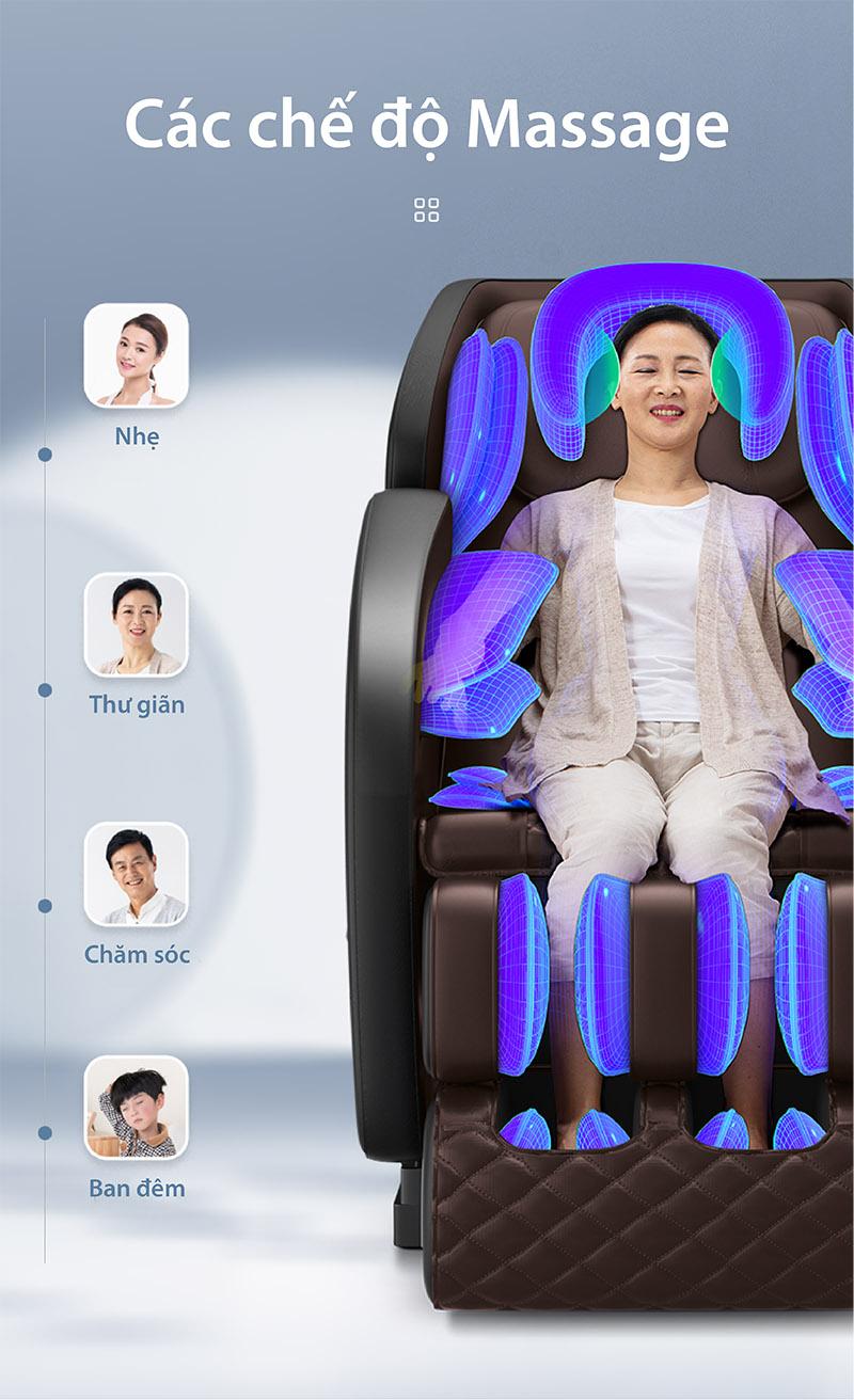 Ghế massage toàn thân akira Q1 với bốn chế độ
