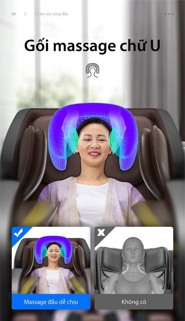 Akira Q1 với gối massage đầu dễ chịu
