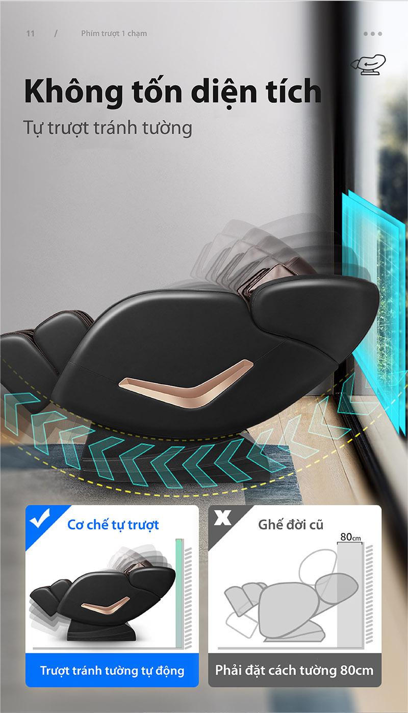 Ghế massage tiết kiệm diện tích