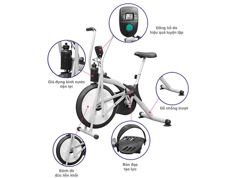 xe đạp tập airbike p388 pthome