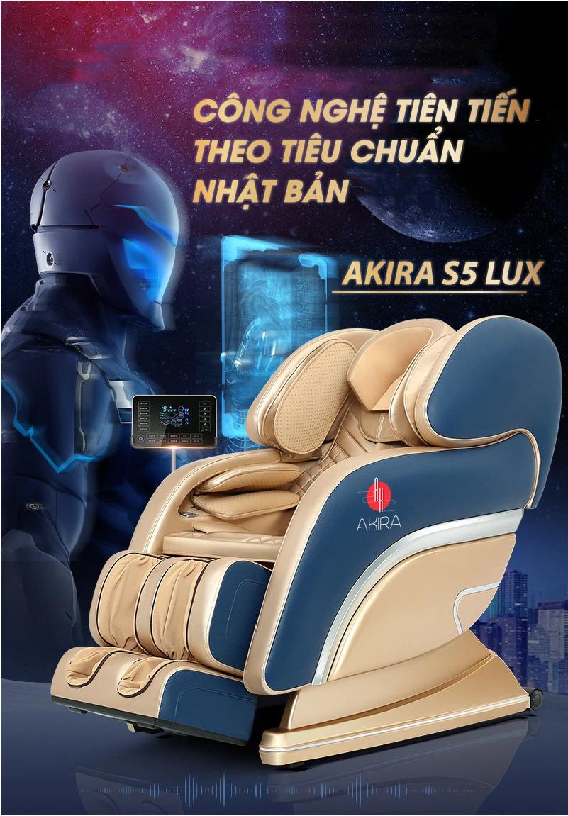 Ghế massage Akira S5 LUX thiết kế theo công nghệ Nhật Bản