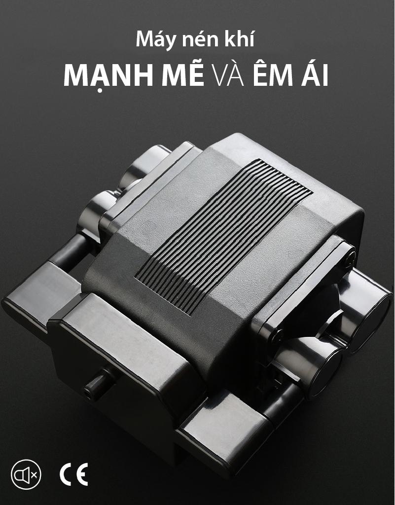 Akira S5 được trang bị máy nén khí mạnh vẽ và hoạt độn êm ái