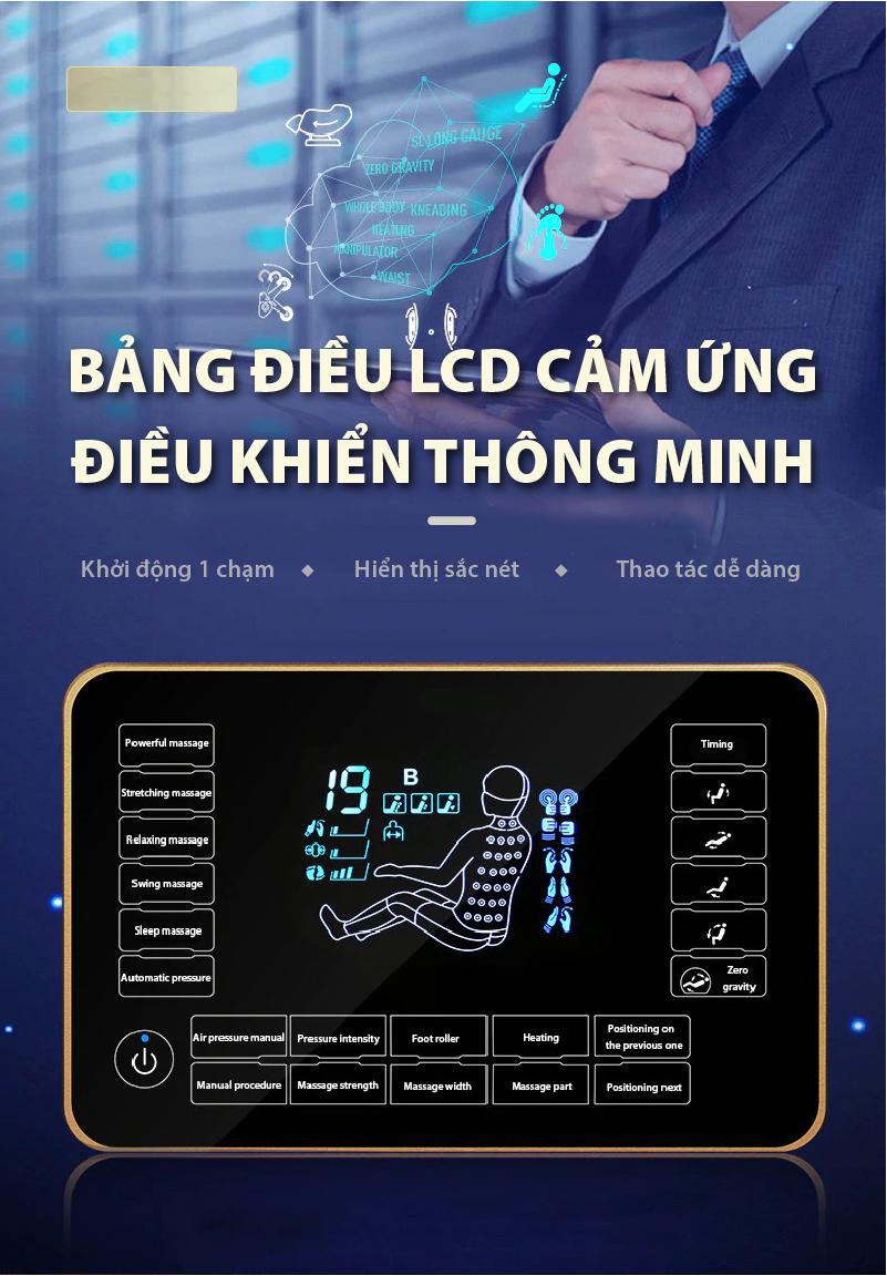 Akira S5 được trang bị bảng điều khiển LCD cảm ứng